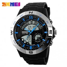 SKMEI Casio Men Sport LED Watch Water Resistant 50m - AD1110 - Silver Blue