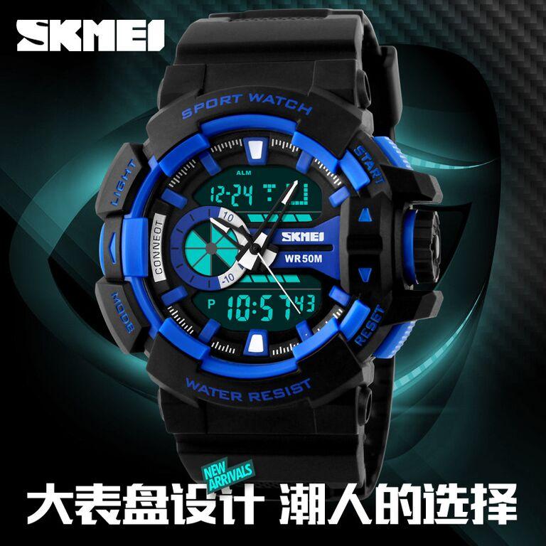 ... SKMEI Jam Tangan Digital Analog Pria - AD1117 - Blue - 9 ... 3ede00c05e