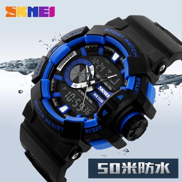 SKMEI Jam Tangan Digital Analog Pria - AD1117 - Blue - 11 ... 64f02ac645
