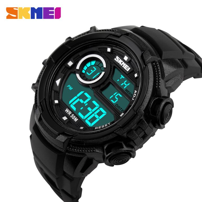 ... SKMEI Jam Tangan Sporty Digital Pria - DG1113 - Black White - 3 ...