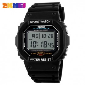 SKMEI Jam Tangan Digital Pria - DG1134 - Black White