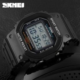 SKMEI Jam Tangan Digital Pria - DG1134 - Black White - 3