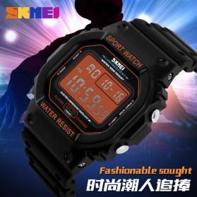 SKMEI Jam Tangan Digital Pria - DG1134 - Black White - 7