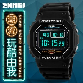 SKMEI Jam Tangan Digital Pria - DG1134 - Black Blue - 7