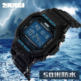 SKMEI Jam Tangan Digital Pria - DG1134 - Black Blue - 9