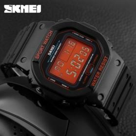 SKMEI Jam Tangan Digital Pria - DG1134 - Black/Orange - 5