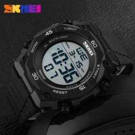 SKMEI Jam Tangan Digital Pria - DG1130 - Black White - 6