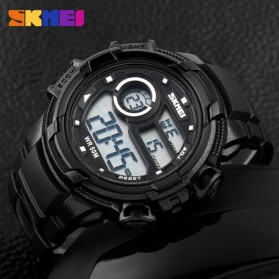 SKMEI Jam Tangan Digital Pria - DG1113 - Black White - 5