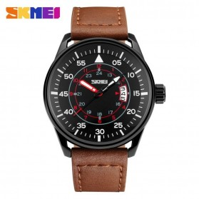 SKMEI Jam Tangan Analog Pria - 9113CL - Black/Brown