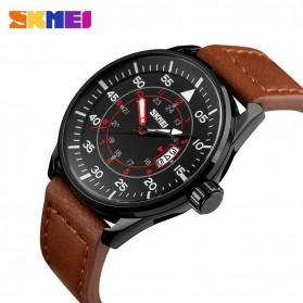 SKMEI Jam Tangan Analog Pria - 9113CL - Black/Brown - 2