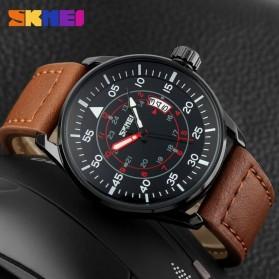 SKMEI Jam Tangan Analog Pria - 9113CL - Black/Brown - 3