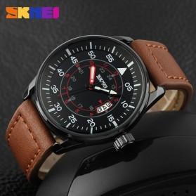 SKMEI Jam Tangan Analog Pria - 9113CL - Black/Brown - 4