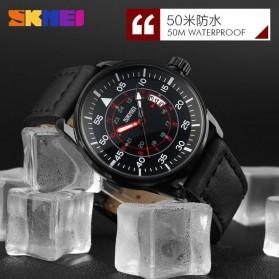 SKMEI Jam Tangan Analog Pria - 9113CL - Black/Brown - 6