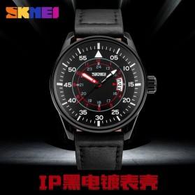 SKMEI Jam Tangan Analog Pria - 9113CL - Black/Brown - 7
