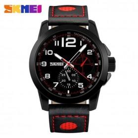 SKMEI Jam Tangan Analog Pria - 9111CL - Black/Red