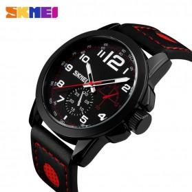 SKMEI Jam Tangan Analog Pria - 9111CL - Black/Red - 2