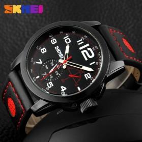 SKMEI Jam Tangan Analog Pria - 9111CL - Black/Red - 4