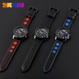 SKMEI Jam Tangan Analog Pria - 9111CL - Black/Red - 5