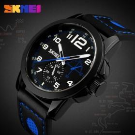 SKMEI Jam Tangan Analog Pria - 9111CL - Black/Red - 7