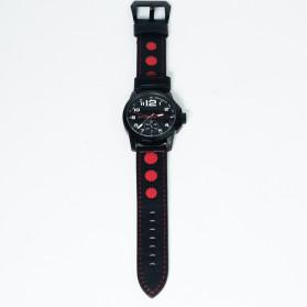 SKMEI Jam Tangan Analog Pria - 9111CL - Black/Red - 10