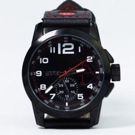 SKMEI Jam Tangan Analog Pria - 9111CL - Black/Red - 12