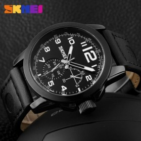 SKMEI Jam Tangan Analog Pria - 9111CL - Black - 4