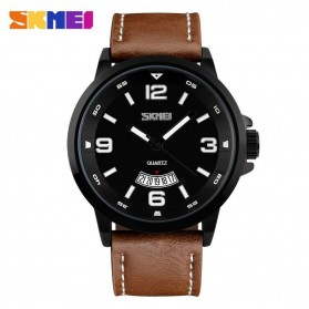 SKMEI Jam Tangan Analog Pria - 9115CL - Black/Brown