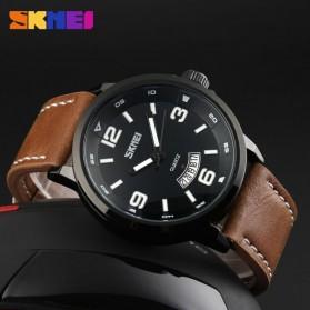 SKMEI Jam Tangan Analog Pria - 9115CL - Black/Brown - 3