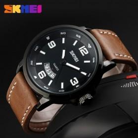 SKMEI Jam Tangan Analog Pria - 9115CL - Black/Brown - 4