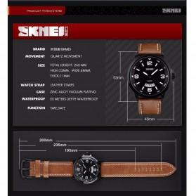 SKMEI Jam Tangan Analog Pria - 9115CL - Black/Brown - 9