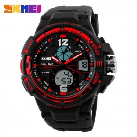 SKMEI Jam Tangan Sporty Digital Analog Pria - AD1148 - Black/Red