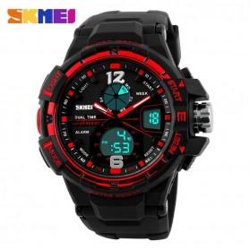 SKMEI Jam Tangan Sporty Digital Analog Pria - AD1148 - Black/Red - 2