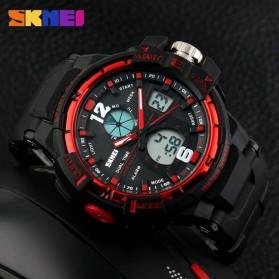 SKMEI Jam Tangan Sporty Digital Analog Pria - AD1148 - Black/Red - 5