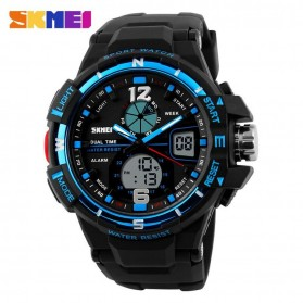 SKMEI Jam Tangan Sporty Digital Analog Pria - AD1148 - Black/Blue