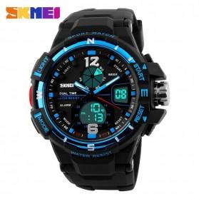 SKMEI Jam Tangan Sporty Digital Analog Pria - AD1148 - Black/Blue - 2