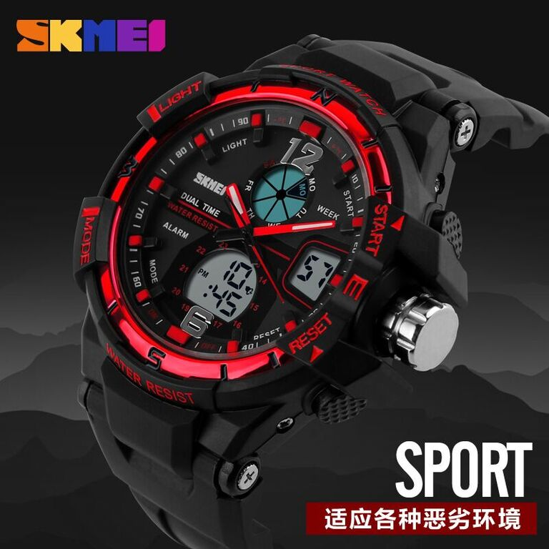 SKMEI Jam Tangan Sporty Digital Analog Pria - AD1148 - Black Blue - 7 ... be157b6571