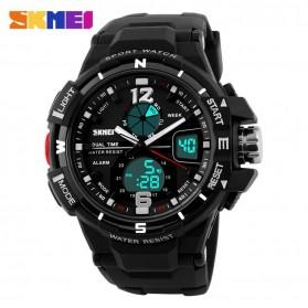 SKMEI Jam Tangan Sporty Digital Analog Pria - AD1148 - Black White - 2