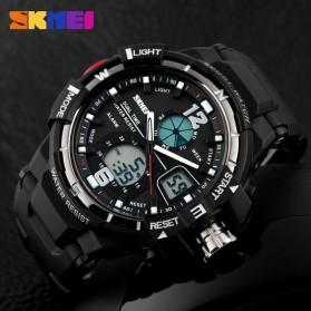 SKMEI Jam Tangan Sporty Digital Analog Pria - AD1148 - Black White - 6