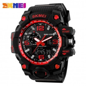 SKMEI Jam Tangan Analog Digital Pria - AD1155 - Black/Red - 1