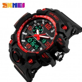 SKMEI Jam Tangan Analog Digital Pria - AD1155 - Black/Red - 2
