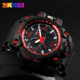 SKMEI Jam Tangan Analog Digital Pria - AD1155 - Black/Red - 3