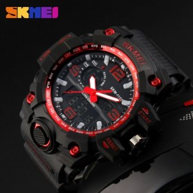 SKMEI Jam Tangan Analog Digital Pria - AD1155 - Black/Red - 4