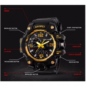 SKMEI Jam Tangan Analog Digital Pria - AD1155 - Black/Red - 7