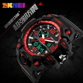 SKMEI Jam Tangan Analog Digital Pria - AD1155 - Black/Red - 9