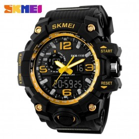 SKMEI Jam Tangan Analog Digital Pria - AD1155 - Black Gold