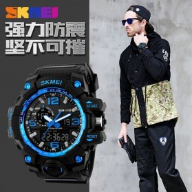 SKMEI Jam Tangan Analog Digital Pria - AD1155 - Black Gold - 5