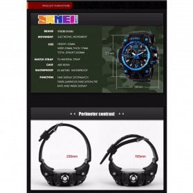 SKMEI Jam Tangan Analog Digital Pria - AD1155 - Black Gold - 8