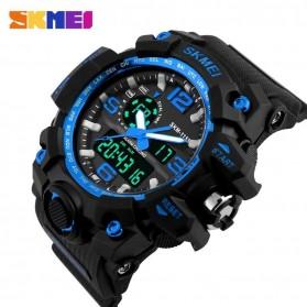 SKMEI Jam Tangan Analog Digital Pria - AD1155 - Black/Blue - 2