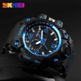 SKMEI Jam Tangan Analog Digital Pria - AD1155 - Black/Blue - 3