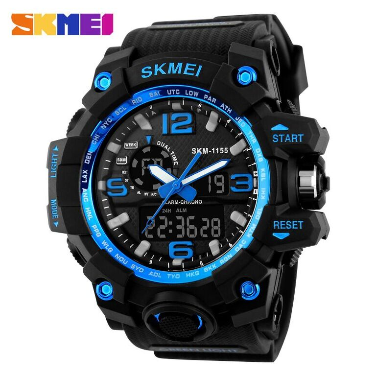 ... SKMEI Jam Tangan Analog Digital Pria - AD1155 - Black Blue - 1 ... 75a4cfde99